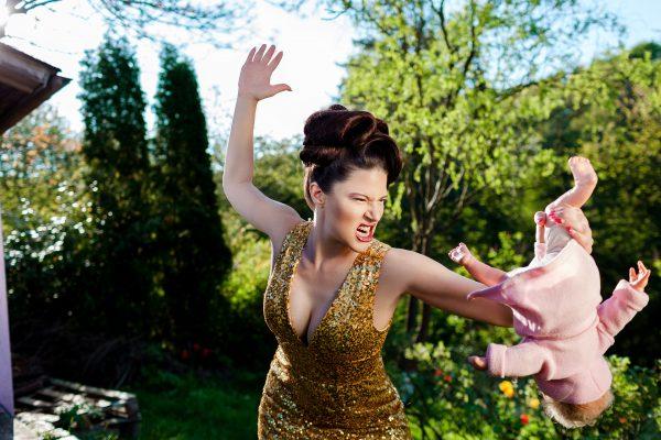 "burlesque star fanny di favola ""trashed motherhood II"""